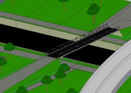Balkenbrücke Variante B, Ansicht 3
